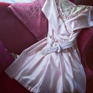 👗 Prom time! Vintage bubblegum pink mini gown